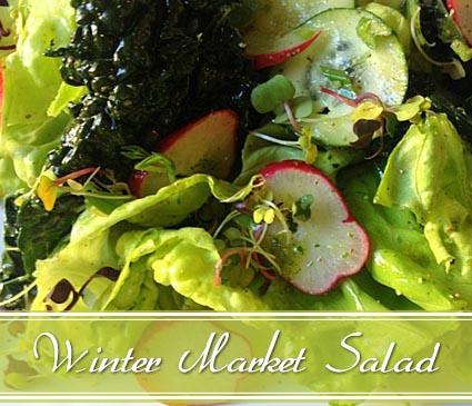 kale salad with arugula pesto