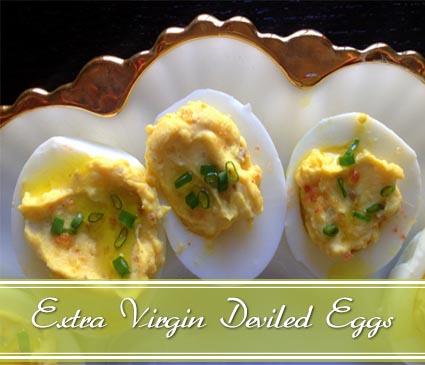 EVOO deviled eggs