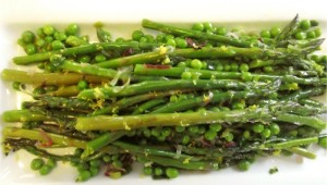 asparagus and spring pea salad