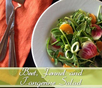 beet fennel tangerine salad