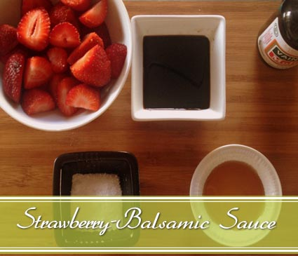 strawberry balsamic vinegar sauce