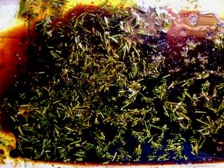 Balsamic Marinade with rosemary and garlic