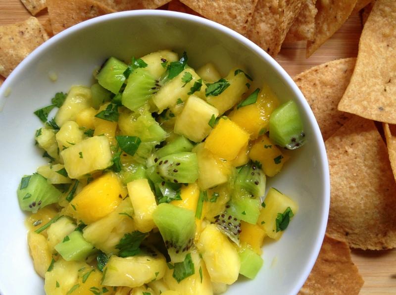 Kiwi Mango Pineapple Salsa
