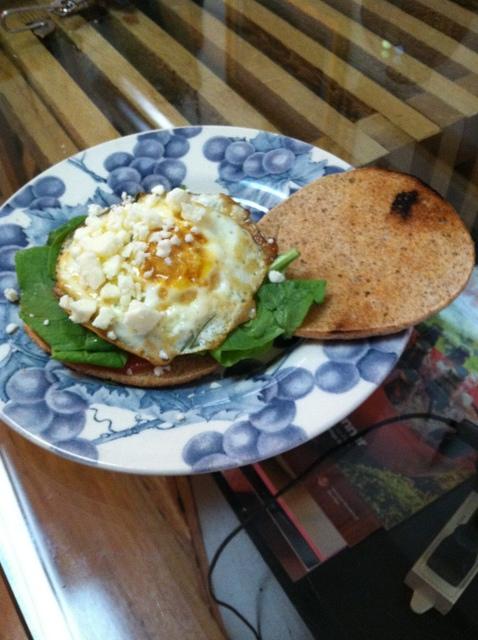 Greek Breakfast Sandwich