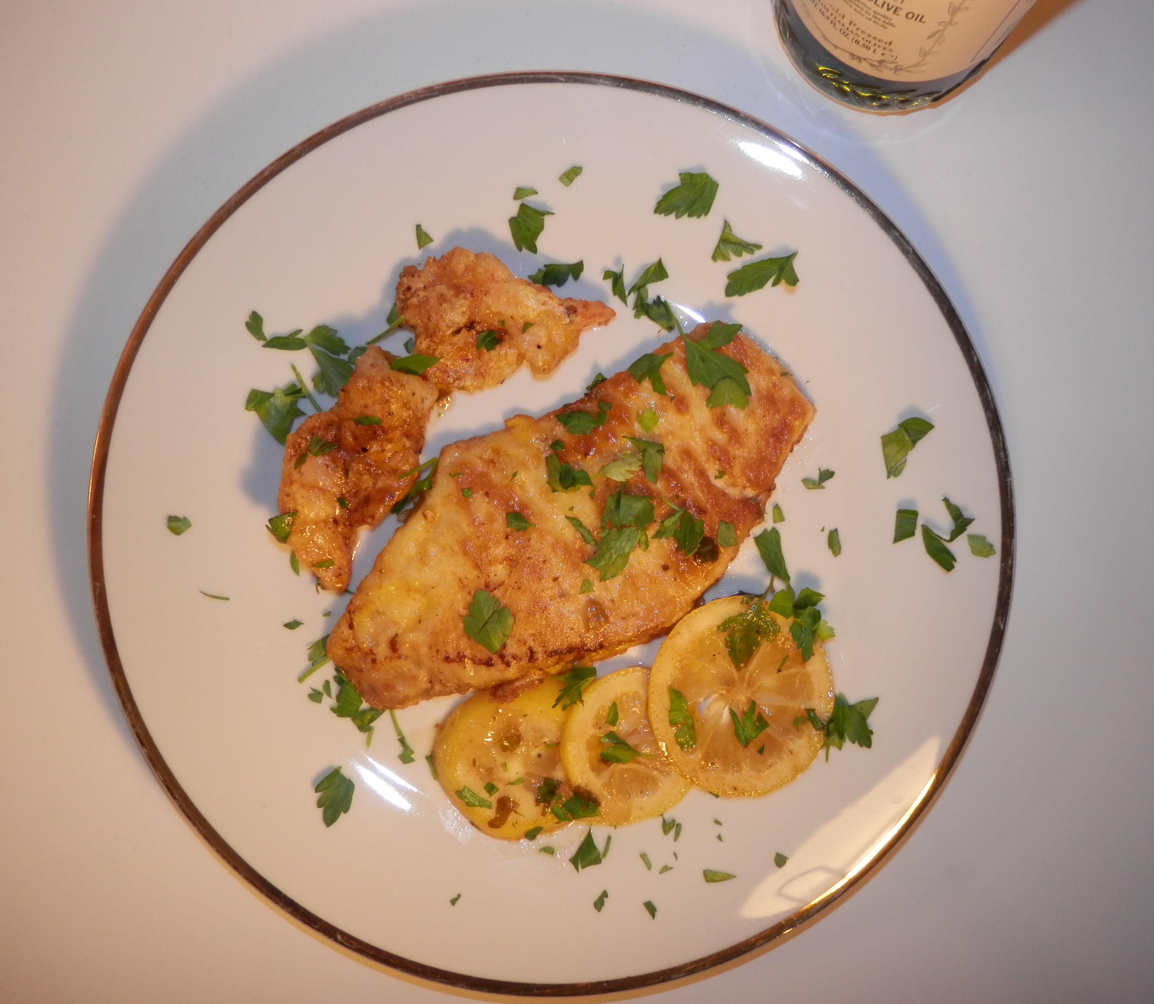 Filet of Sole and Shrimp Francese