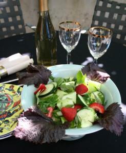 Silver Lake Nasturtium Salad