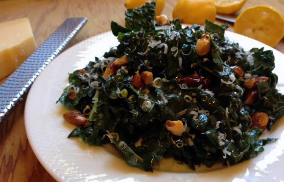Fresh Kale Salad with Lemon & Parmesan | We Olive