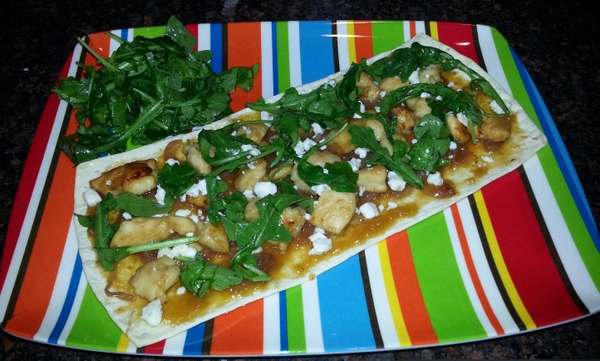 Peachy Chicken Flatbread