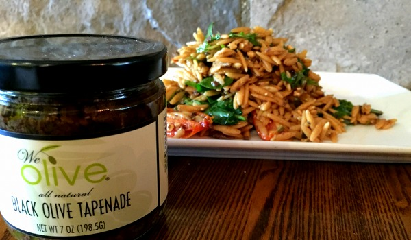 Orzo Salad with Black Olive Tapenade