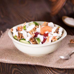 yogurt with olive oil and balsamic vinegar