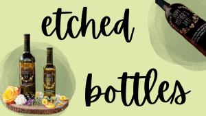 Etched Olive Oil Bottles