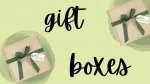 Olive Oil and vinegar gift boxes